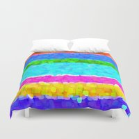 miami Duvet Covers featuring Miami by Saundra Myles