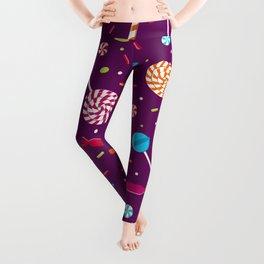 Delightful Candy Pattern Leggings