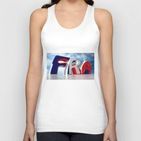 france Tank Tops featuring France by Carlo Toffolo