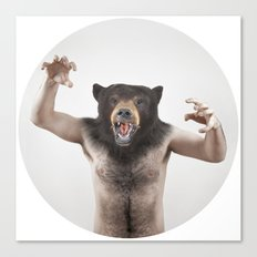 Therianthrope - Angry Bear Canvas Print