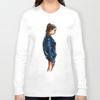 tumblr Long Sleeve T-shirts featuring Tumblr girl by vooce & kat