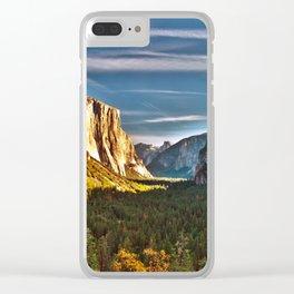 Yosemite Mountains, Yosemite National Park, California Clear iPhone Case