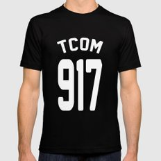 TCOM 917 AREA CODE JERSEY MEDIUM Mens Fitted Tee Black