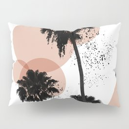 Black and White Palm Trees Pillow Sham