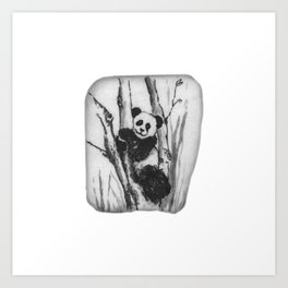 Panda Bear in a tree by annmariescreations Art Print
