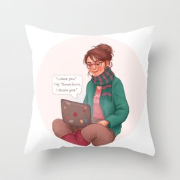 Cath writing Carry On Throw Pillow