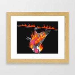 Flaming Galah Framed Art Print