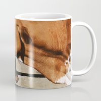 cows Mugs featuring Cows by Ana Francisconi