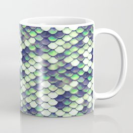 Green Mermaid Sclaes Coffee Mug
