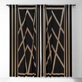 BLACK&GOLD 2 (abstract artdeco geometric) Blackout Curtain