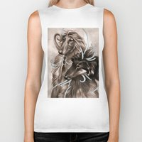 the hound Biker Tanks featuring Hound Dog by Estúdio Marte