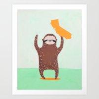 California State Sloth Art Print