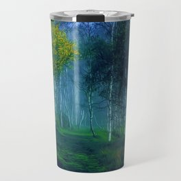 White Birch Forest, New England Landscape Travel Mug