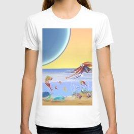Sealife Family Childrens Illustration T-shirt