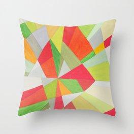 Red and green Splinter Throw Pillow