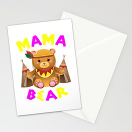 Mama Bear, Mama, Mama Gift, Mothers Day, Mom, Mommy, Mother, Momma Stationery Cards