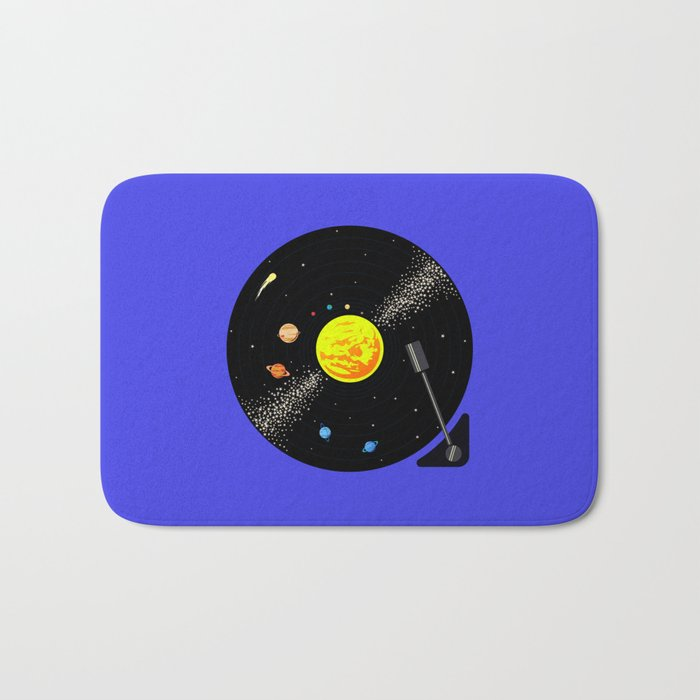 Solar System Vinyl Record Bath Mat