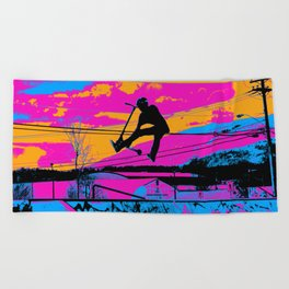 Lets Fly!  - Stunt Scooter Beach Towel