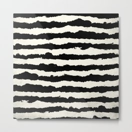 Horizontal Ivory Stripes Metal Print
