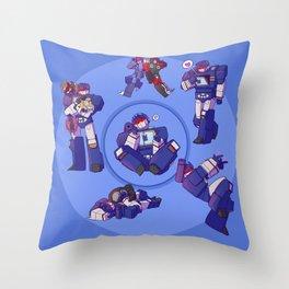 Soundwaves - Blue Throw Pillow