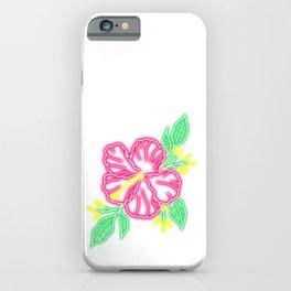 Neon Hibiskus iPhone Case