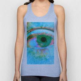 Eye in Bloom [Blue] Unisex Tank Top