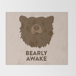 BEARLY AWAKE Throw Blanket