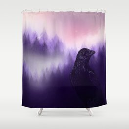 Mythical crow Shower Curtain