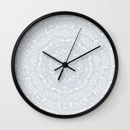 Light Gray Ethnic Eclectic Detailed Mandala Minimal Minimalistic Wall Clock