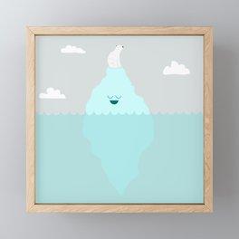 Floating Along Framed Mini Art Print