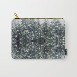 Snow Forest Mountains - Photo Art Carry-All Pouch