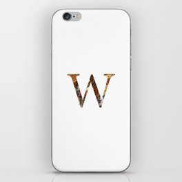 "Initial letter ""W"" iPhone Skin"