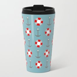 Sailing Pattern Travel Mug