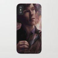 sherlock iPhone & iPod Cases featuring Sherlock by Jasric Art