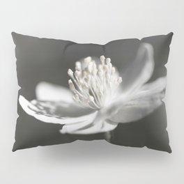 White Anemone Flower in Black And White #decor #society6 #buyart Pillow Sham