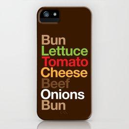Burgervetica iPhone Case