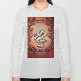 Decorative clef with songbirds Long Sleeve T-shirt