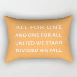 The Three Musketeers Quote Rectangular Pillow