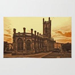 WW2 Bombed out Church Liverpool (Digital Art) Rug