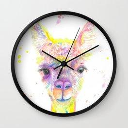 Llama Drama Wall Clock