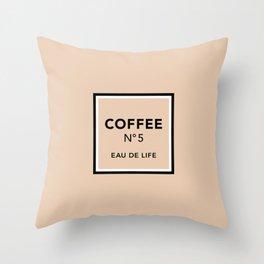 Latte No5 Throw Pillow