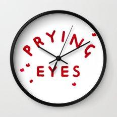Prying Eyes Wall Clock