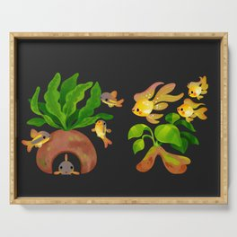 Fresh water fish and plants 2 Serving Tray