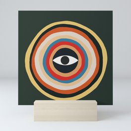 Third Eye Retro Colors Circle Mini Art Print
