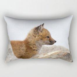 Watercolor Fox, Red Fox 41, Union Reservoir, Boulder Rectangular Pillow