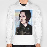 katniss Hoodies featuring Katniss Everdeen by Alina Rubanenko