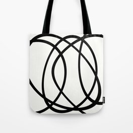 Community - Black and white abstract Tote Bag