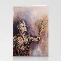 groot Stationery Cards featuring Groot by Sallygipsypunk