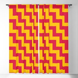 Amber Orange and Crimson Red Steps LTR Blackout Curtain