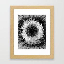 Black and White Tie Dye // Painted // Multi Media Framed Art Print